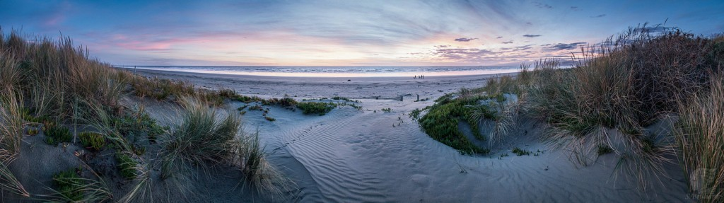 Beach at Christchurch Pano