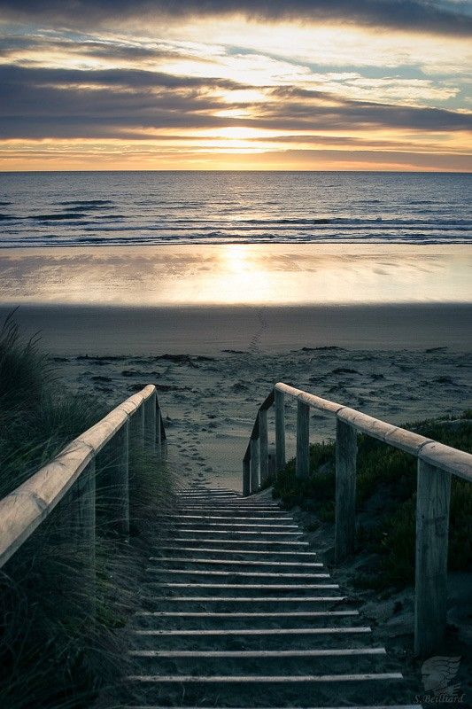 Stairway to Christchurch beach