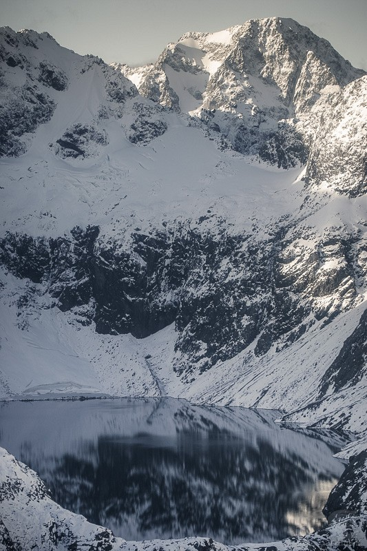 From Above : Lake & Snow