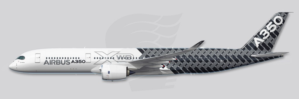 Airbus A350 Profile Illustration