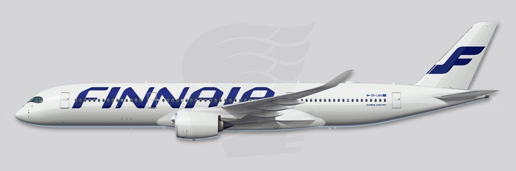 A350 Profile Illustration - Finnair