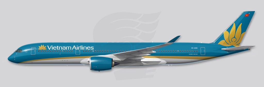 A350 Profile Illustration - Vietnam Airlines