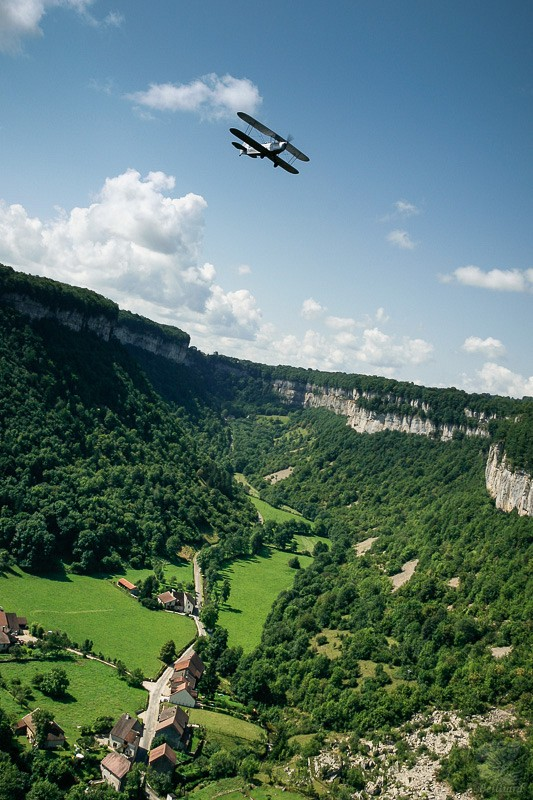 Stampe over Baume-les-Messieurs