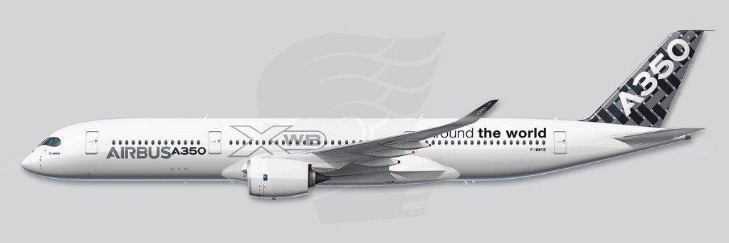A350 Profile Illustration - MSN005