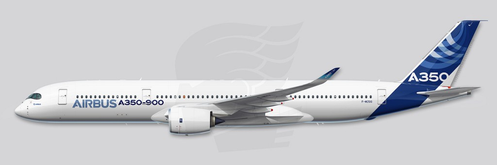 A350 Profile Illustration - MSN003