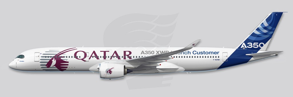 A350 Profile Illustration - MSN004