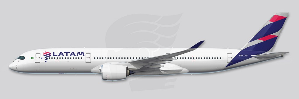 A350 Profile Illustration - LATAM