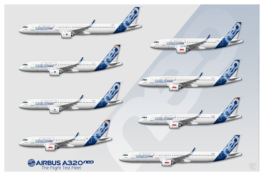 A320neo Flight Test Fleet