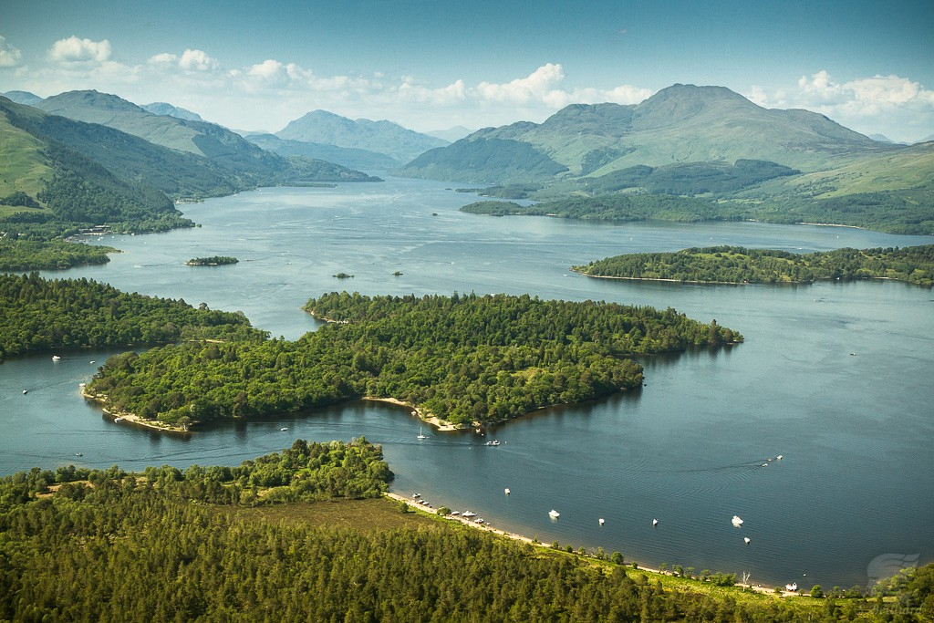 Highlands from Above - Loch Lomond