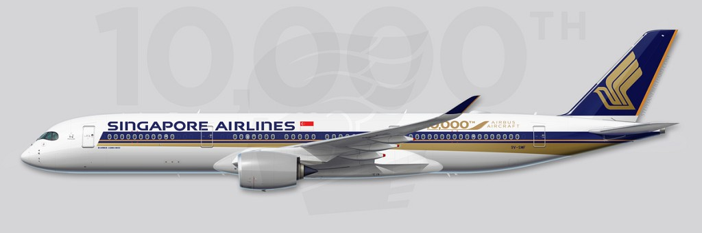 A350 Profile Illustration - 10000th