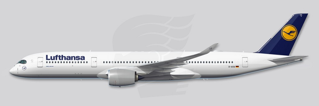 A350 Profile Illustration - Lufthansa