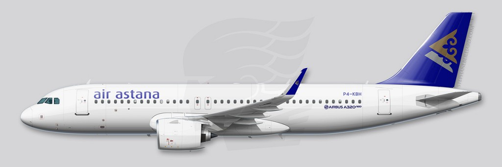 Airbus A320 profile - Air Astana