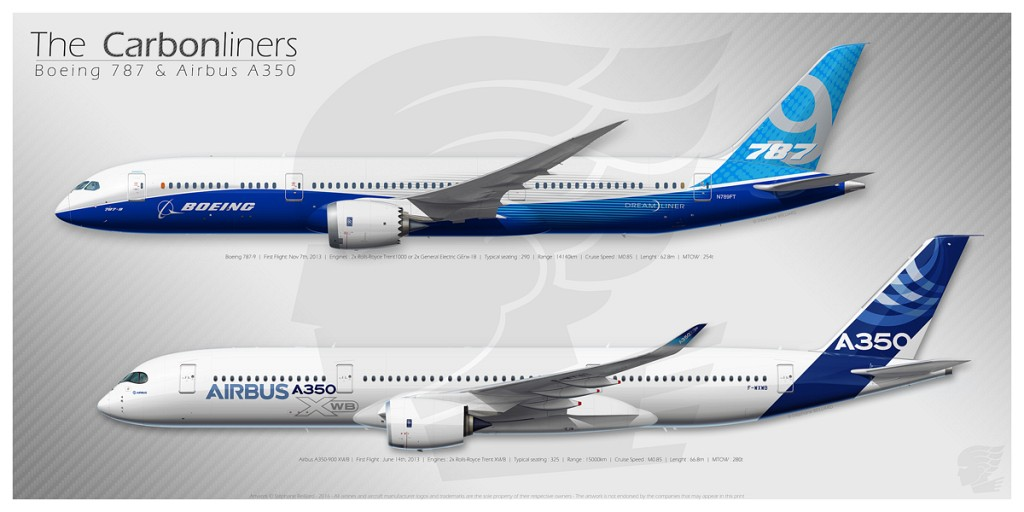 Airbus A350 Illustrations