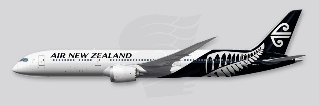 Boeing 787 Illustration - Air New Zealand