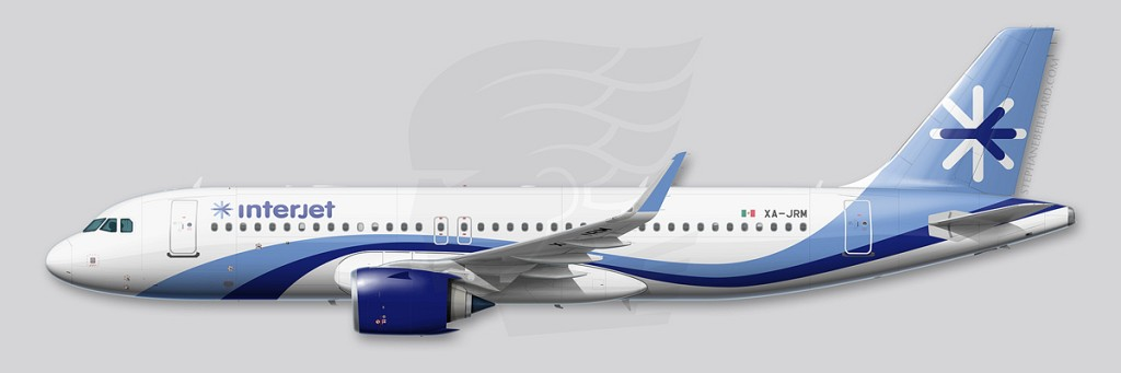 Airbus A320 profile - Interjet