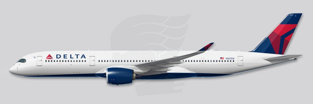 A350 Profile Illustration - Delta