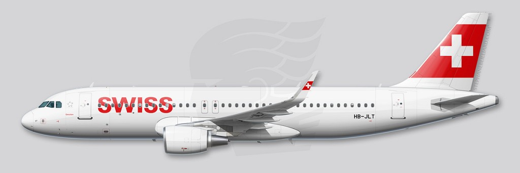 Airbus A320 profile - Swiss