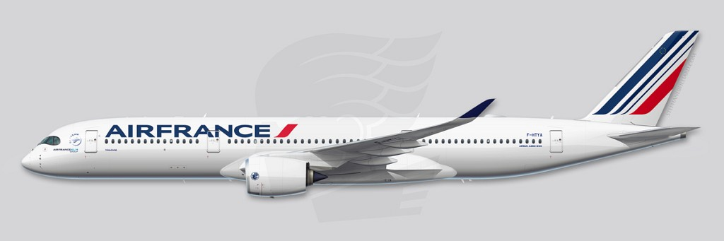 A350 Profile Illustration - Air France